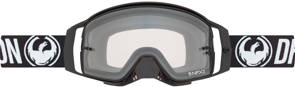 Nfx2 Goggle Coal W/Dragon Strap And Injected Clear Lens