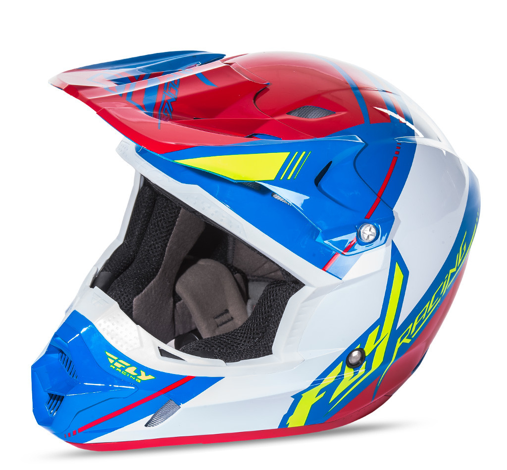 Kinetic Pro Canard Replica Helmet Red/White/Blue 2X