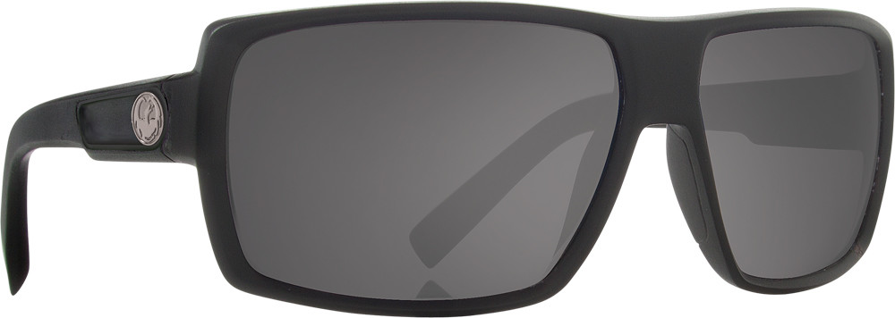 Double Dos Sunglasses Jet W/Grey Lens