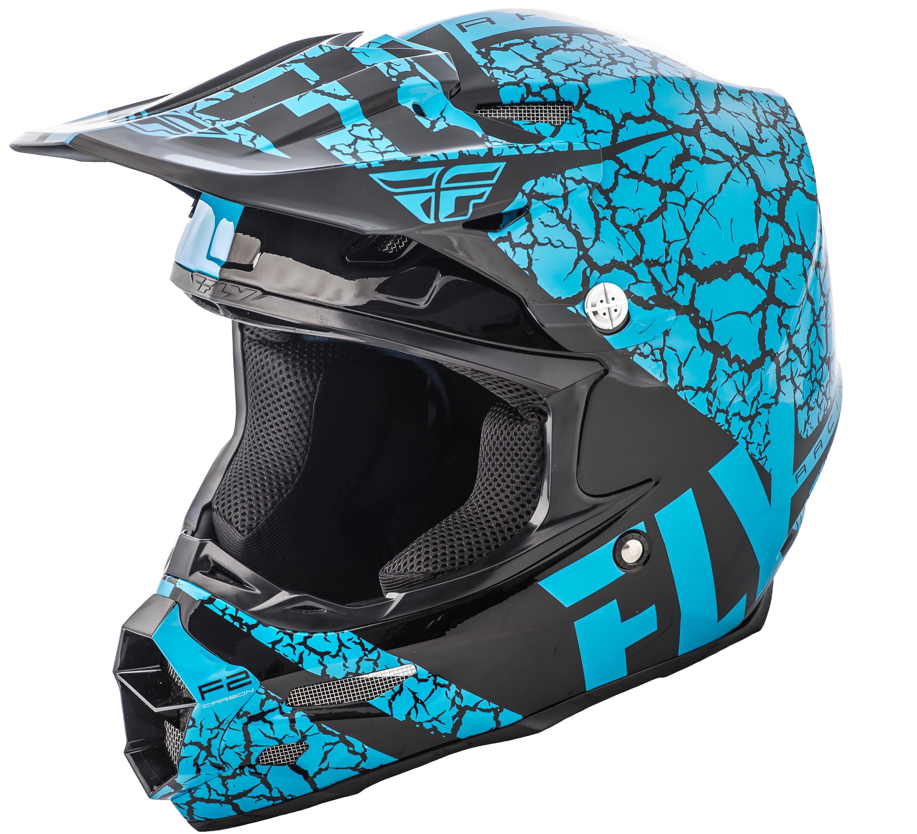 F2 Carbon Fracture Helmet Light Blue/Black 2X