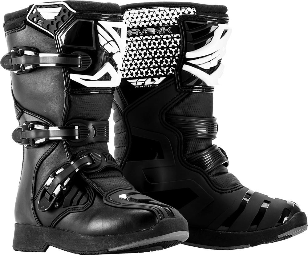 Maverik Mx Boots Black Sz Y10