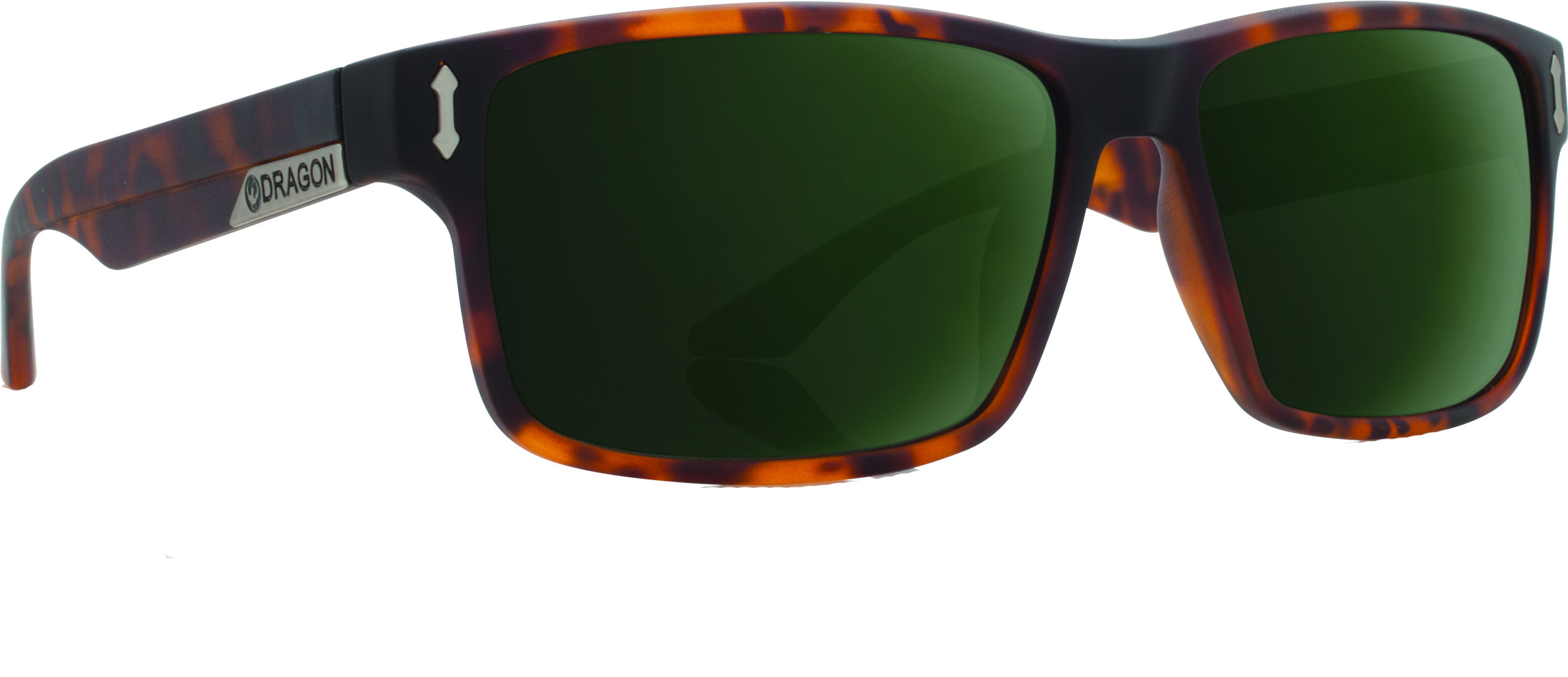 Count Sunglasses Matte Tortoise W/G15 Green Lens