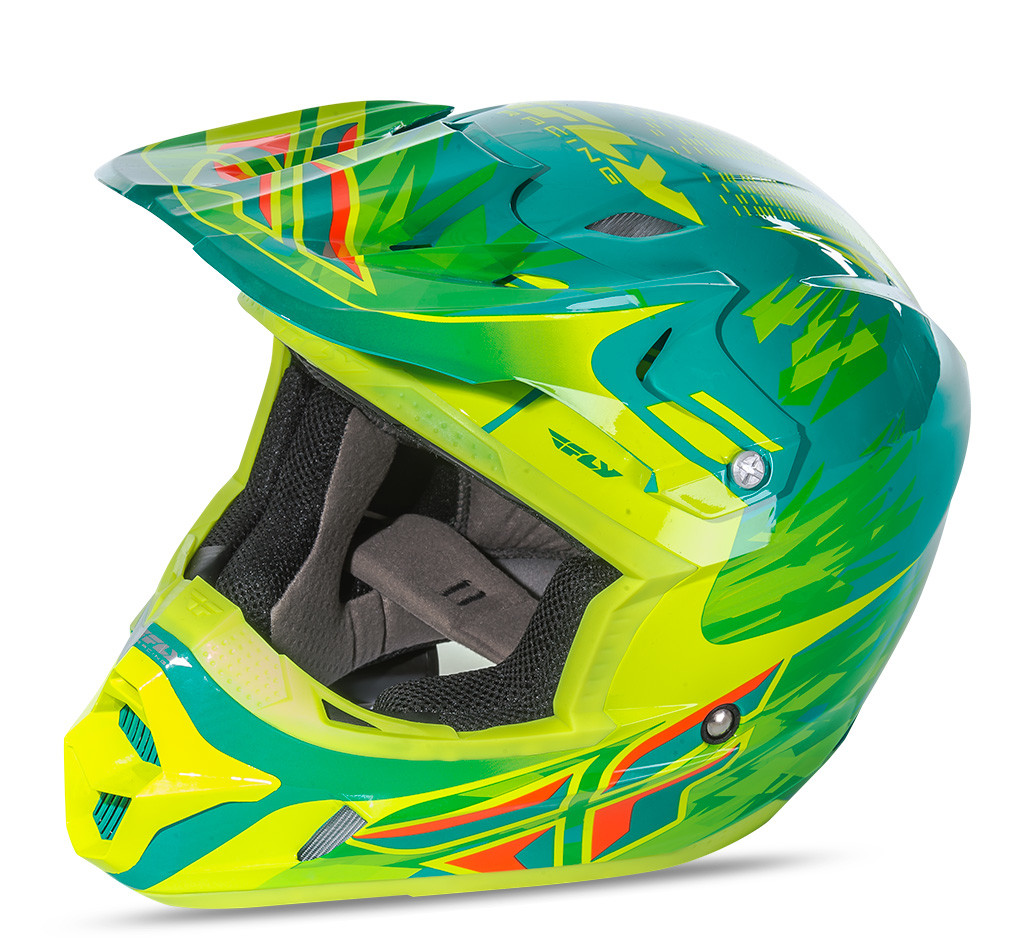 Kinetic Pro Shorty Replica Helmet Teal/Yellow Yl