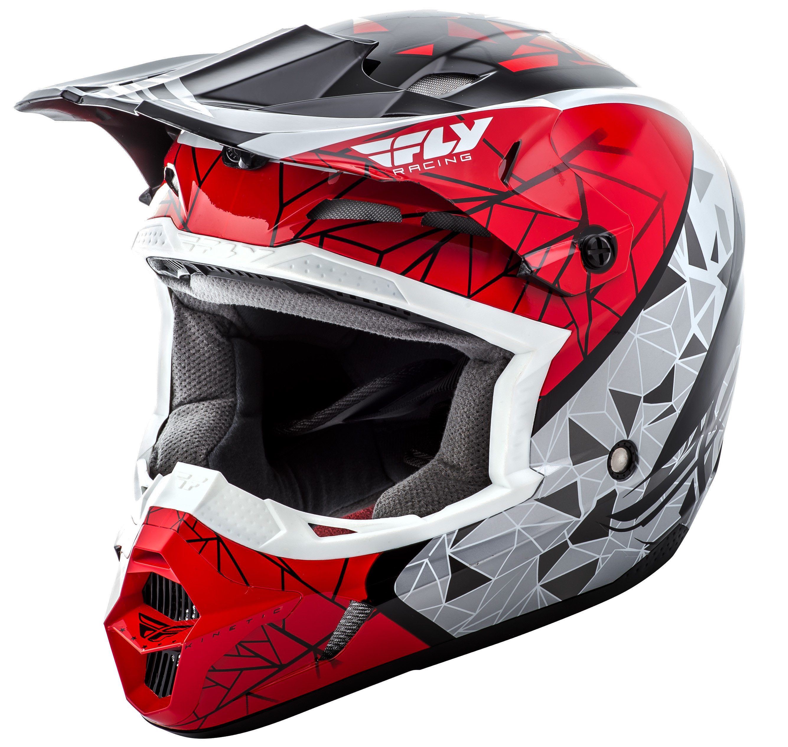 Kinetic Crux Helmet Red/Black/White 2X
