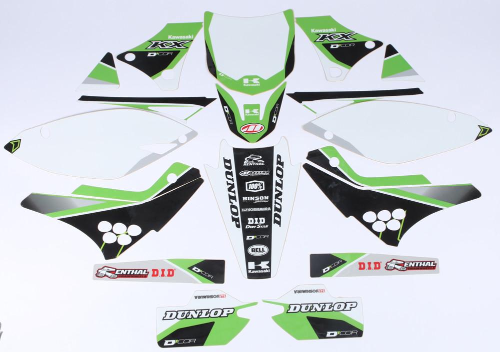 Kawasaki Raceline Graphics Complete Kit Black 862-2202