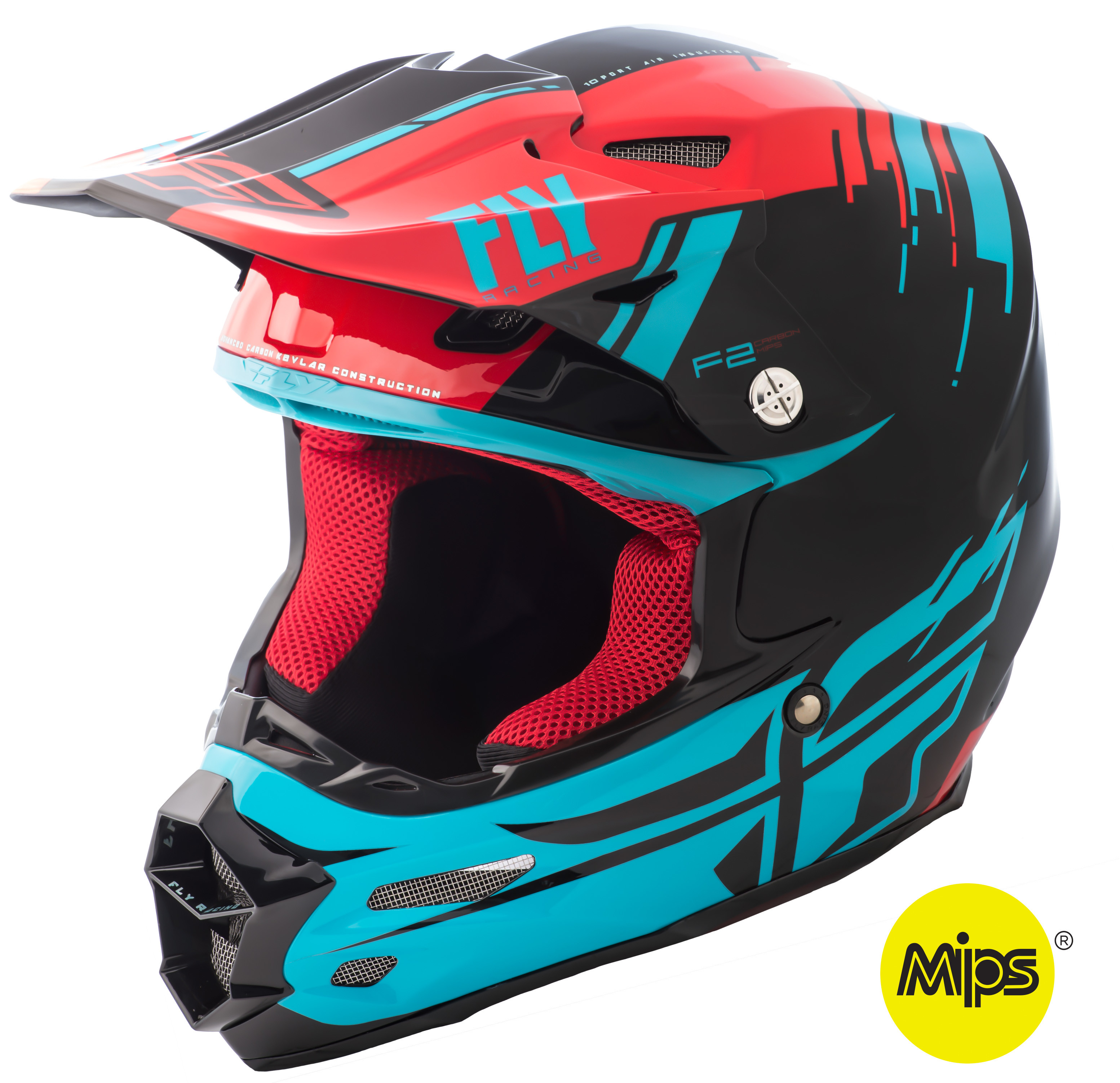 F2 Carbon Forge Helmet Red/Blue/Black Xs