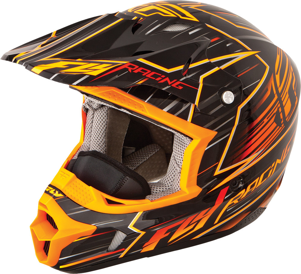 Kinetic Pro Speed Helmet Orange/Black Xs