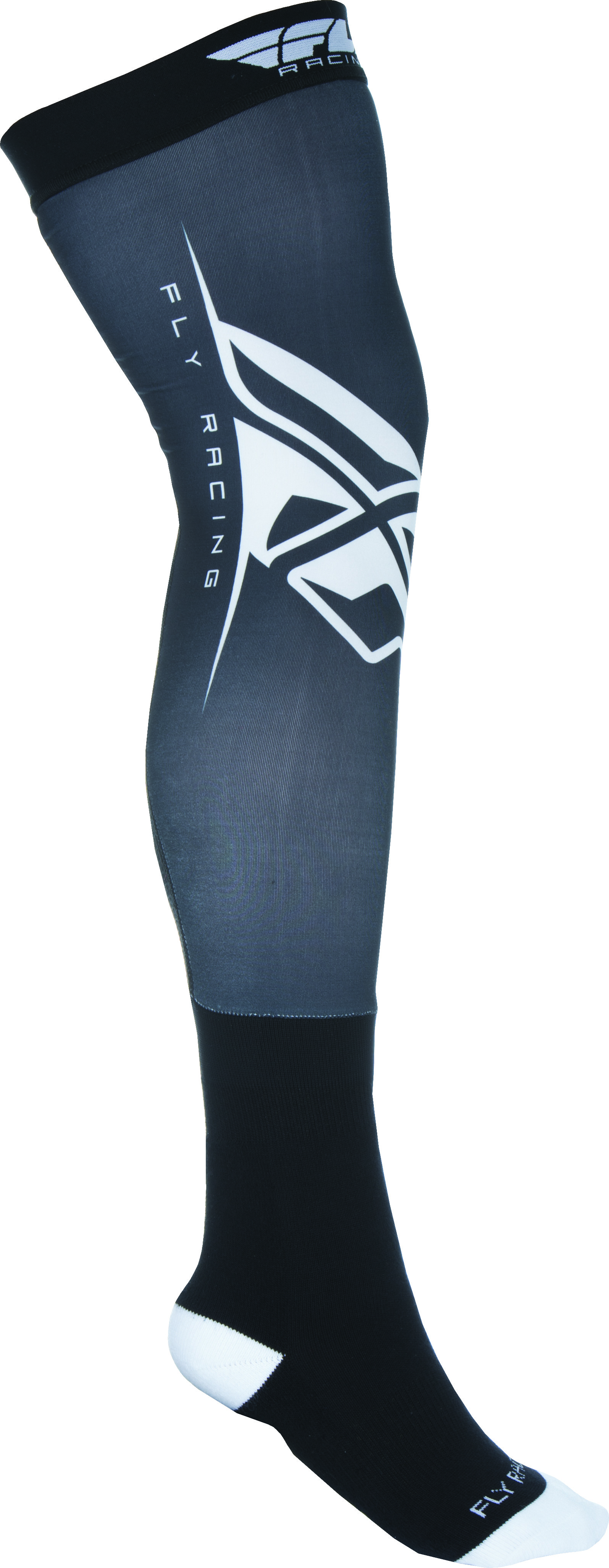 Knee Brace Sock Black/White L/X
