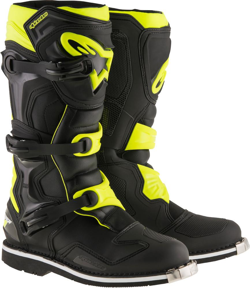 Tech 1 Boots Black/Yellow Sz 10