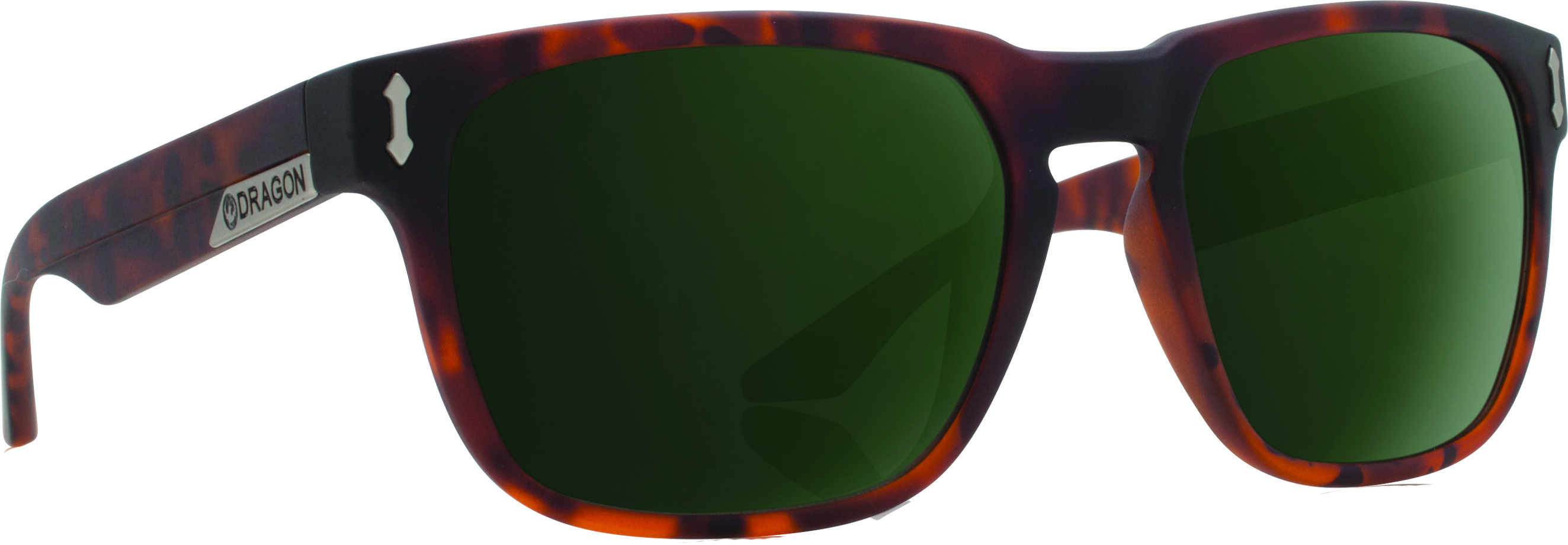 Monarch Sunglasses Matte Tortoise W/G15 Green Lens
