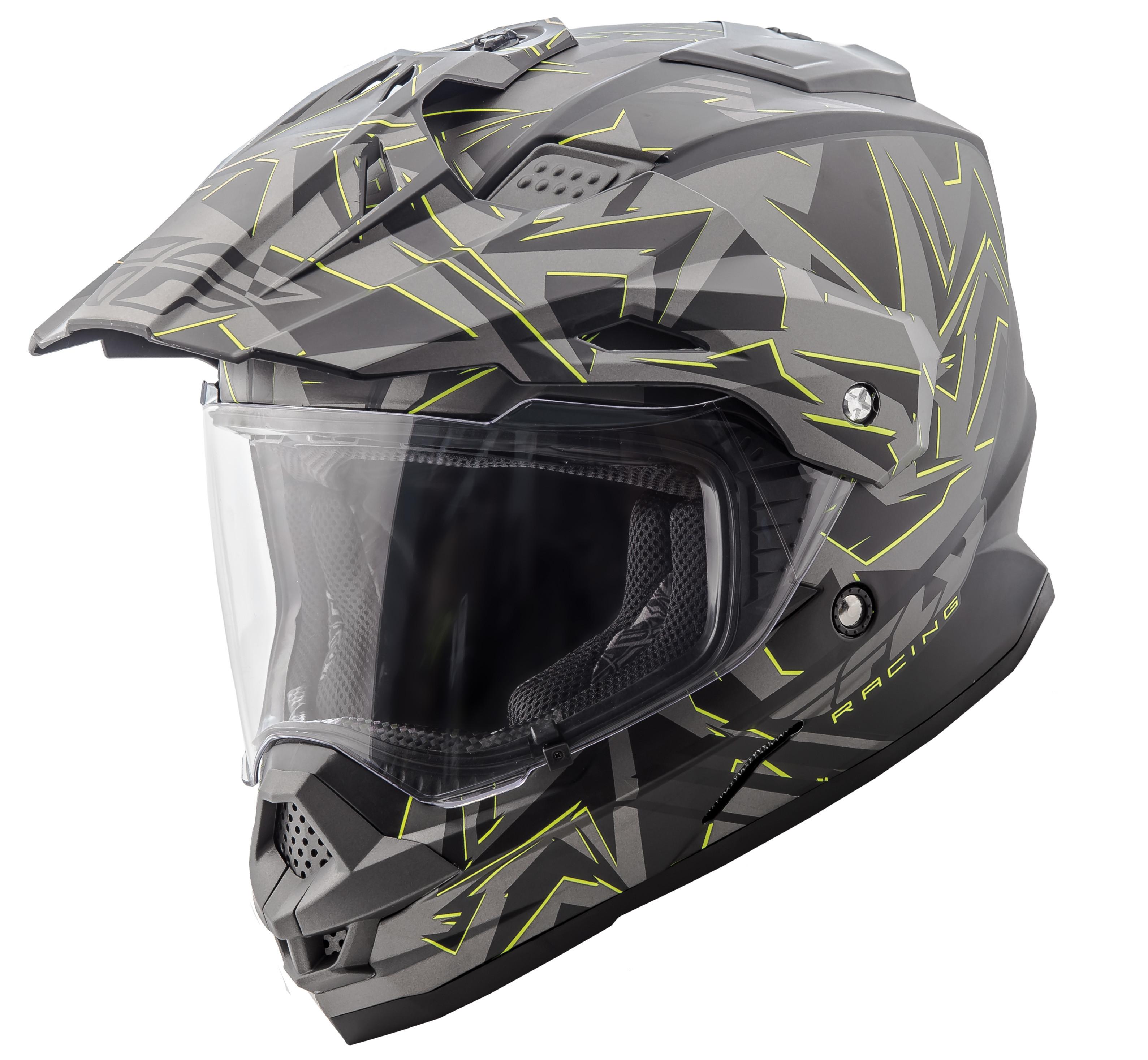 Trekker Nova Helmet Matte Grey/Hi-Vis 2X