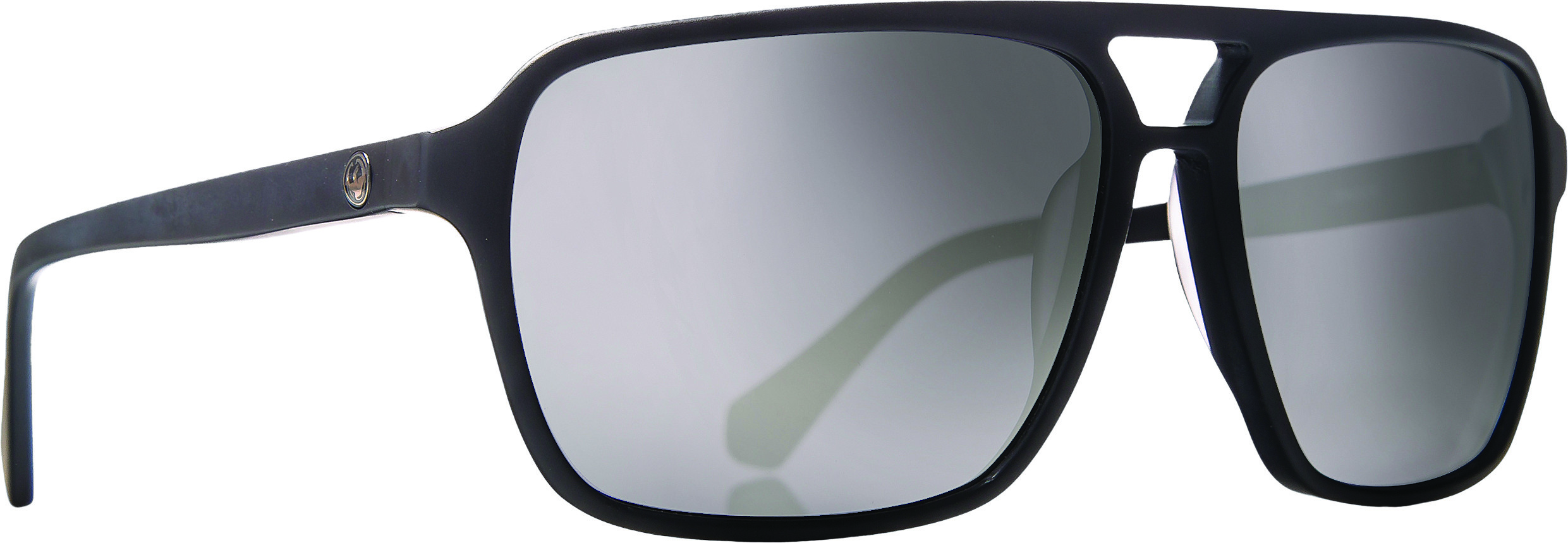 Passport Sunglasses Matte Black W/Silver Ion Lens