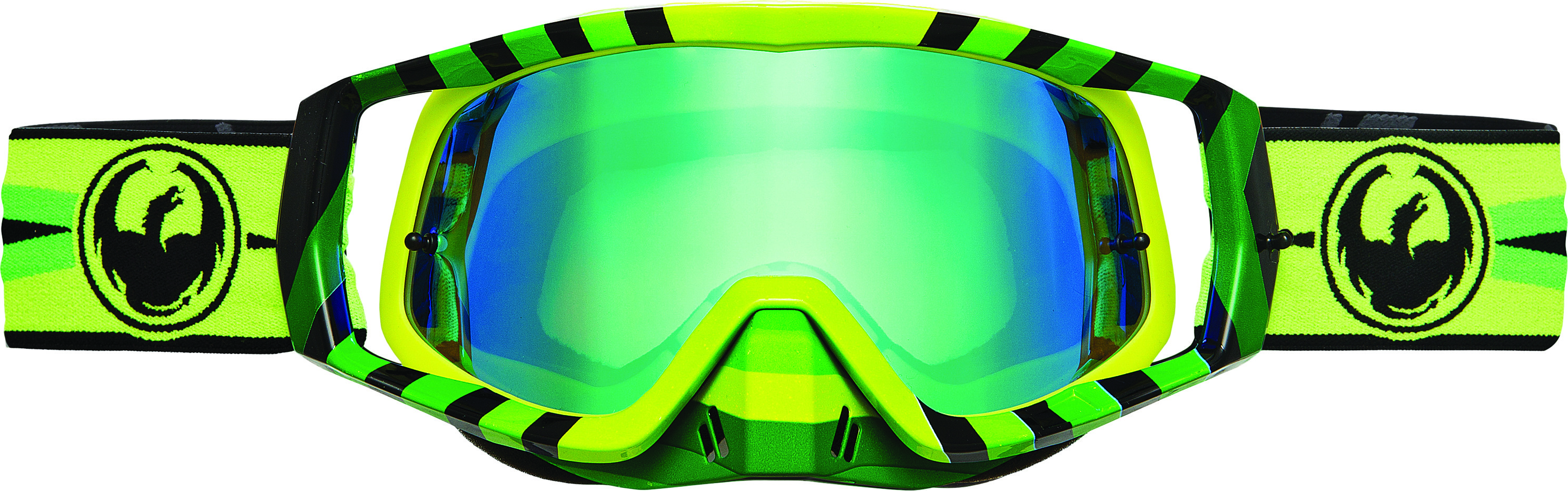 Vendetta Goggles Mirage Green Ion W/10 Pk Tearoff