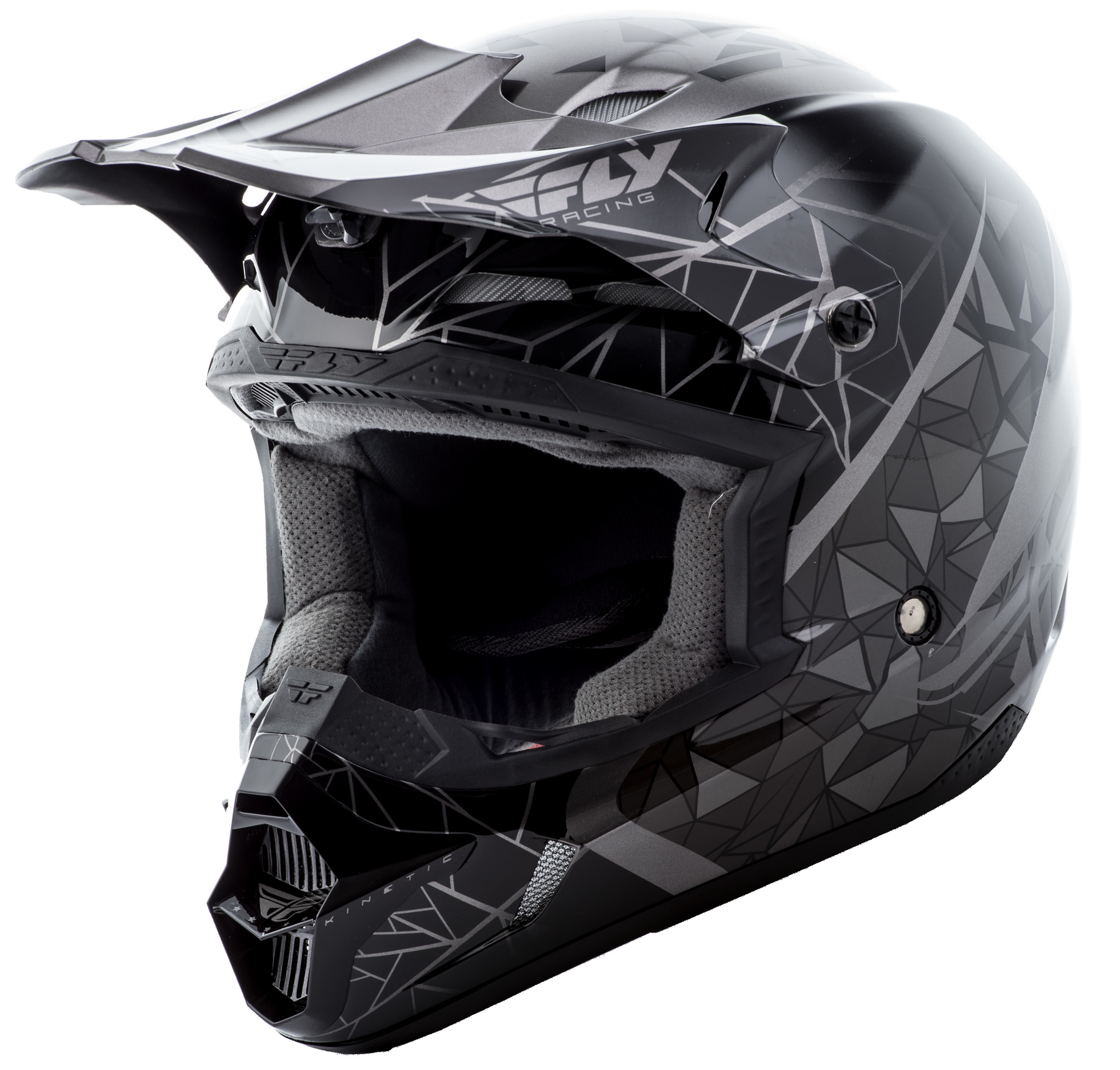 Kinetic Crux Helmet Black/Silver Yl