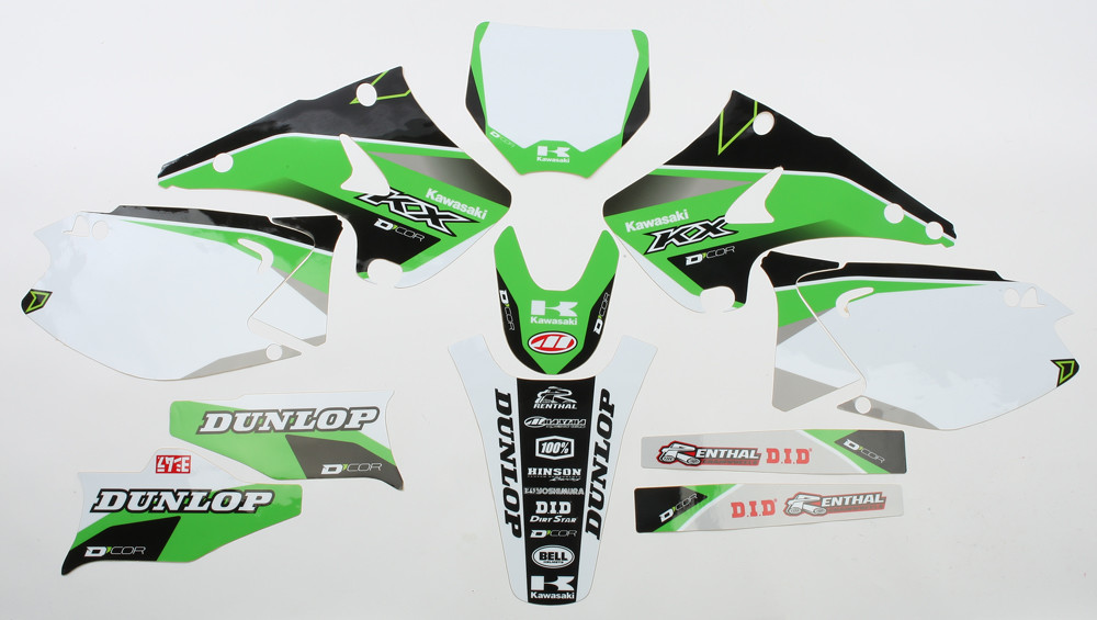 Kawasaki Raceline Graphics Complete Kit White 862-2201