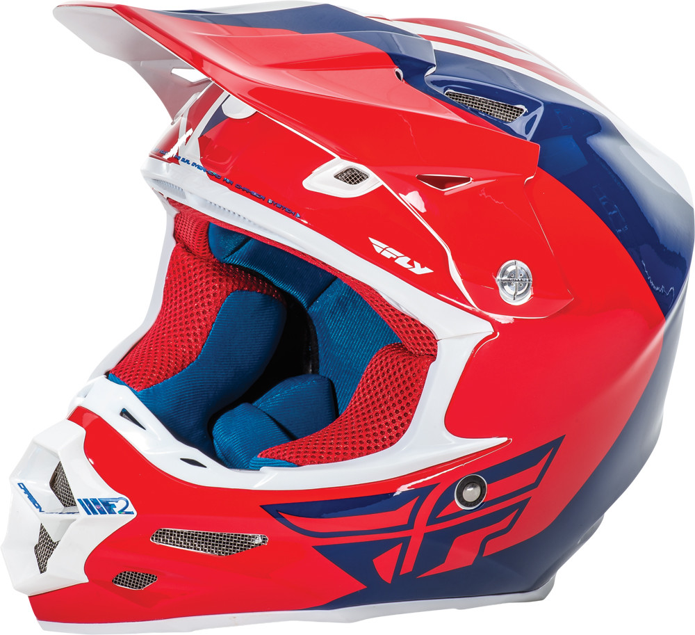 F2 Carbon Pure Helmet Red/Blue/White S
