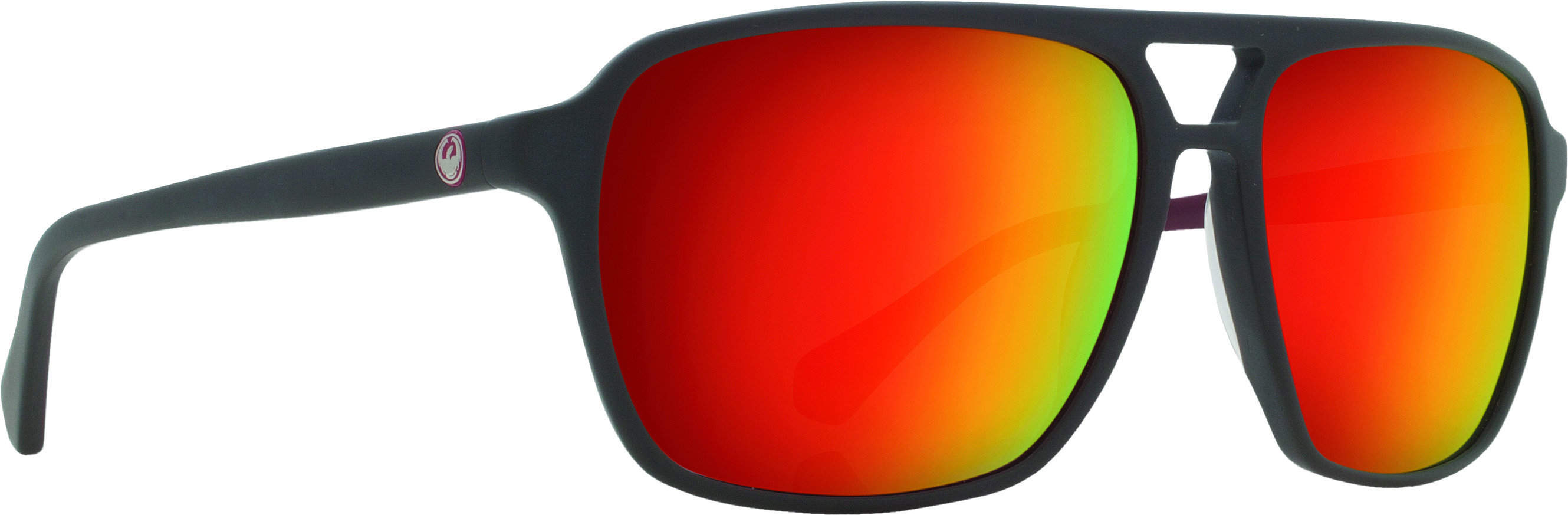 Passport Sunglasses Matte Magnet Grey W/Red Ion Lens