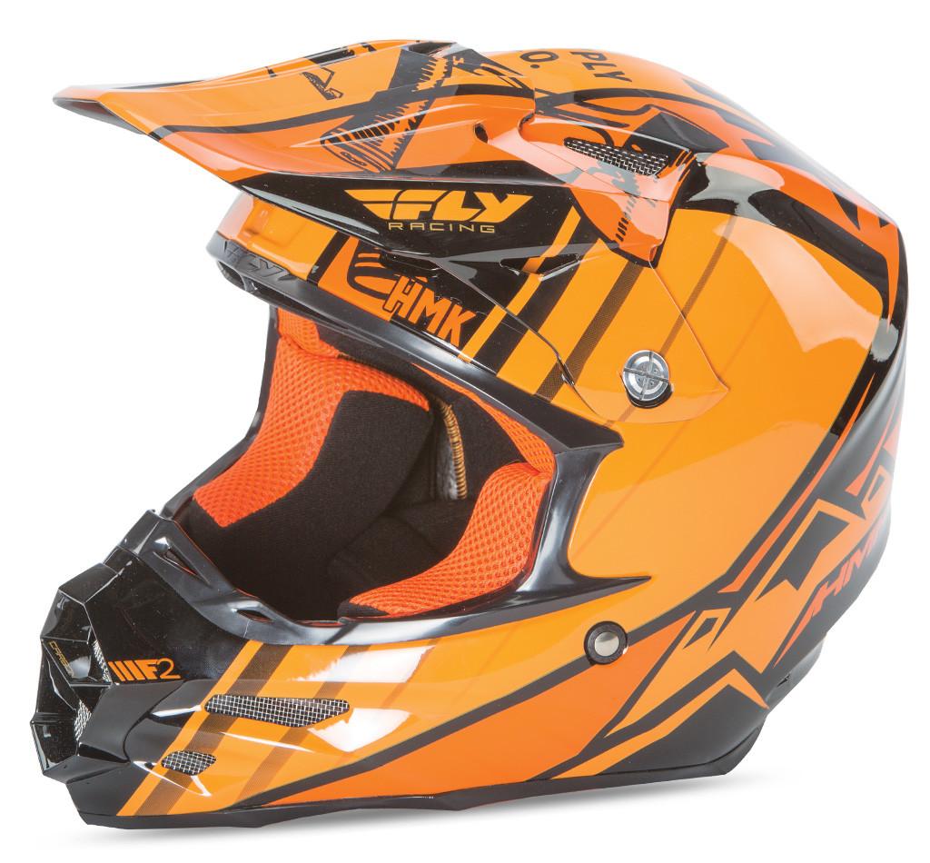 F2 Carbon Hmk Pro Cross Helmet Black/Orange M