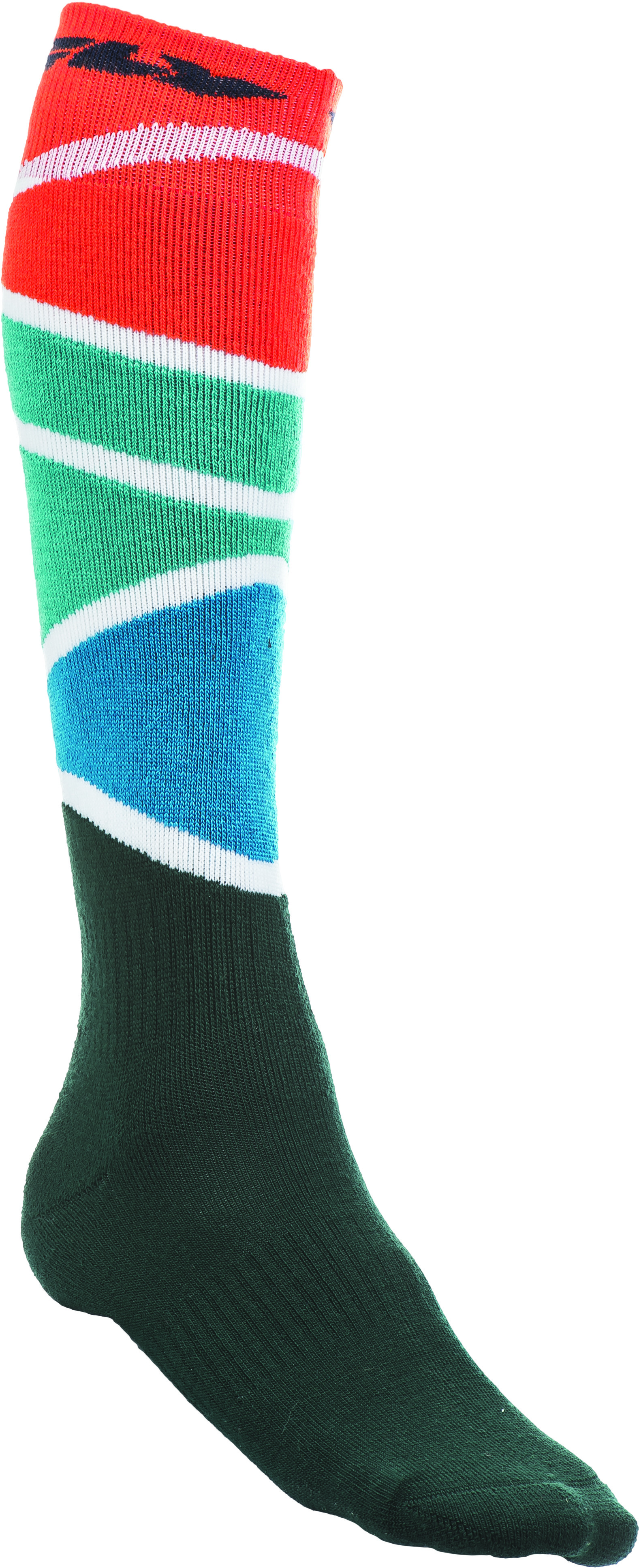 Mx Sock Thick Orange/Teal/Black L/X