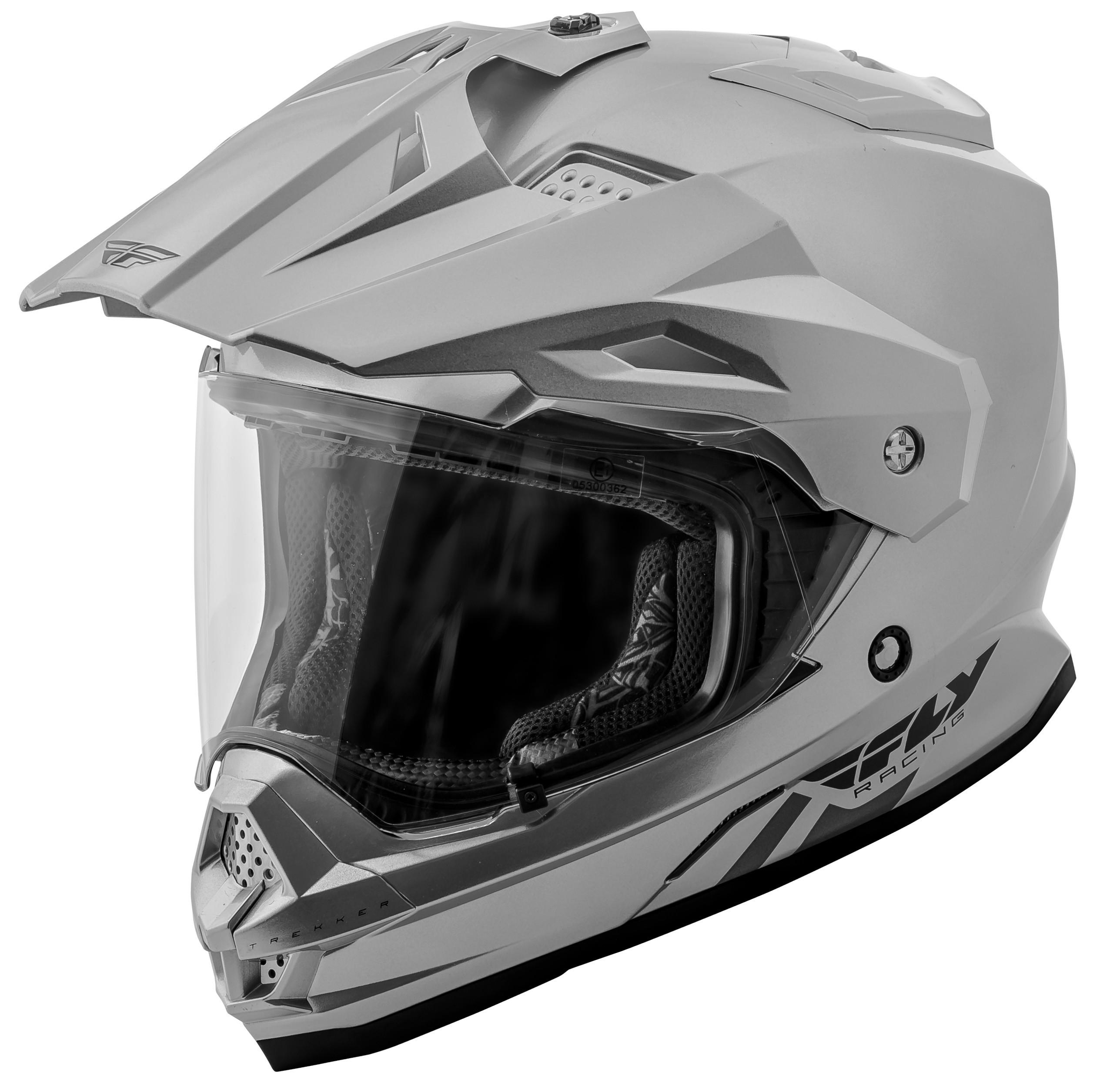 Trekker Solid Helmet Silver 2X