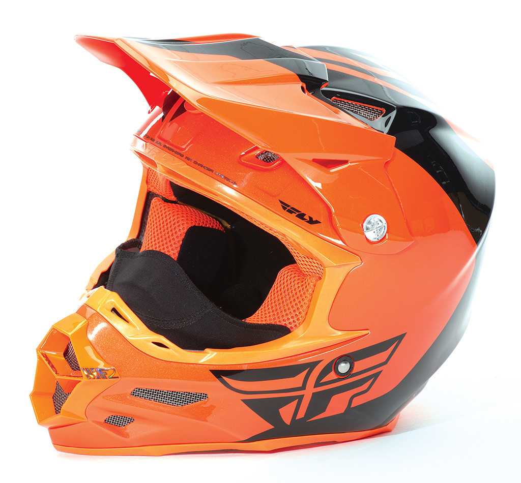 F2 Carbon Pure Cold Weather Helmet Orange/Black 2X