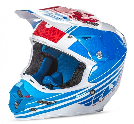 F2 Animal Helmet Blue/White/Red 2X