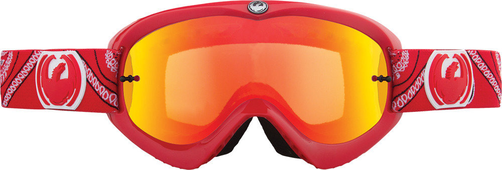 Mdx Goggle Paisley Red W/Clear Lens