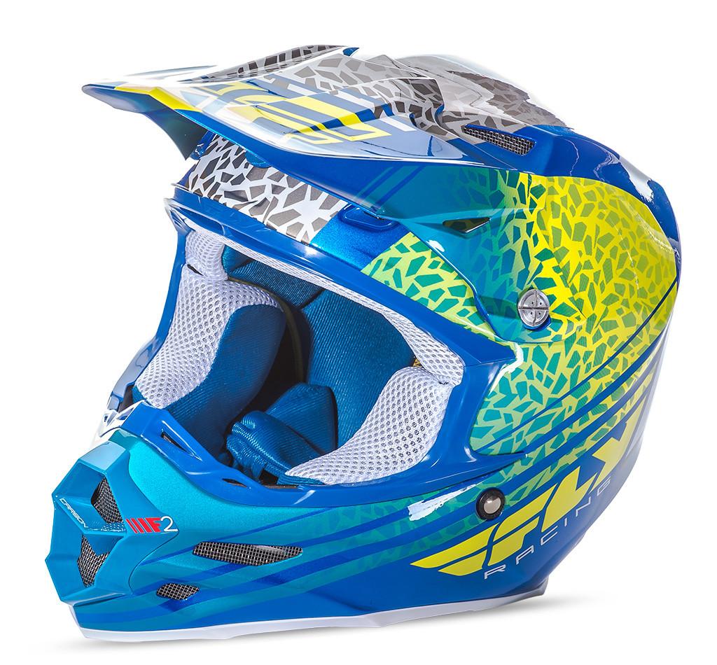 F2 Animal Helmet Yellow/Blue/White 2X
