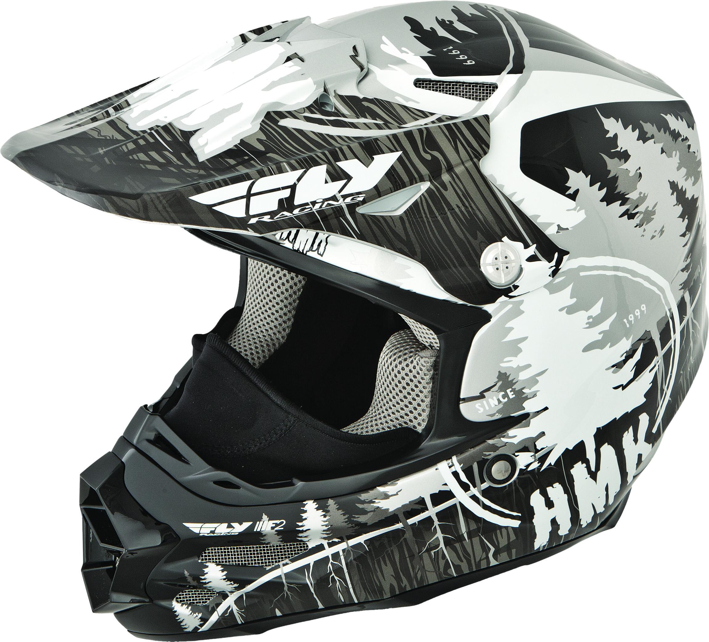 F2 Carbon Hmk Pro Stamp Helmet Black/White S