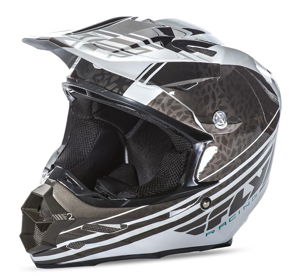 F2 Animal Helmet Black/White 2X