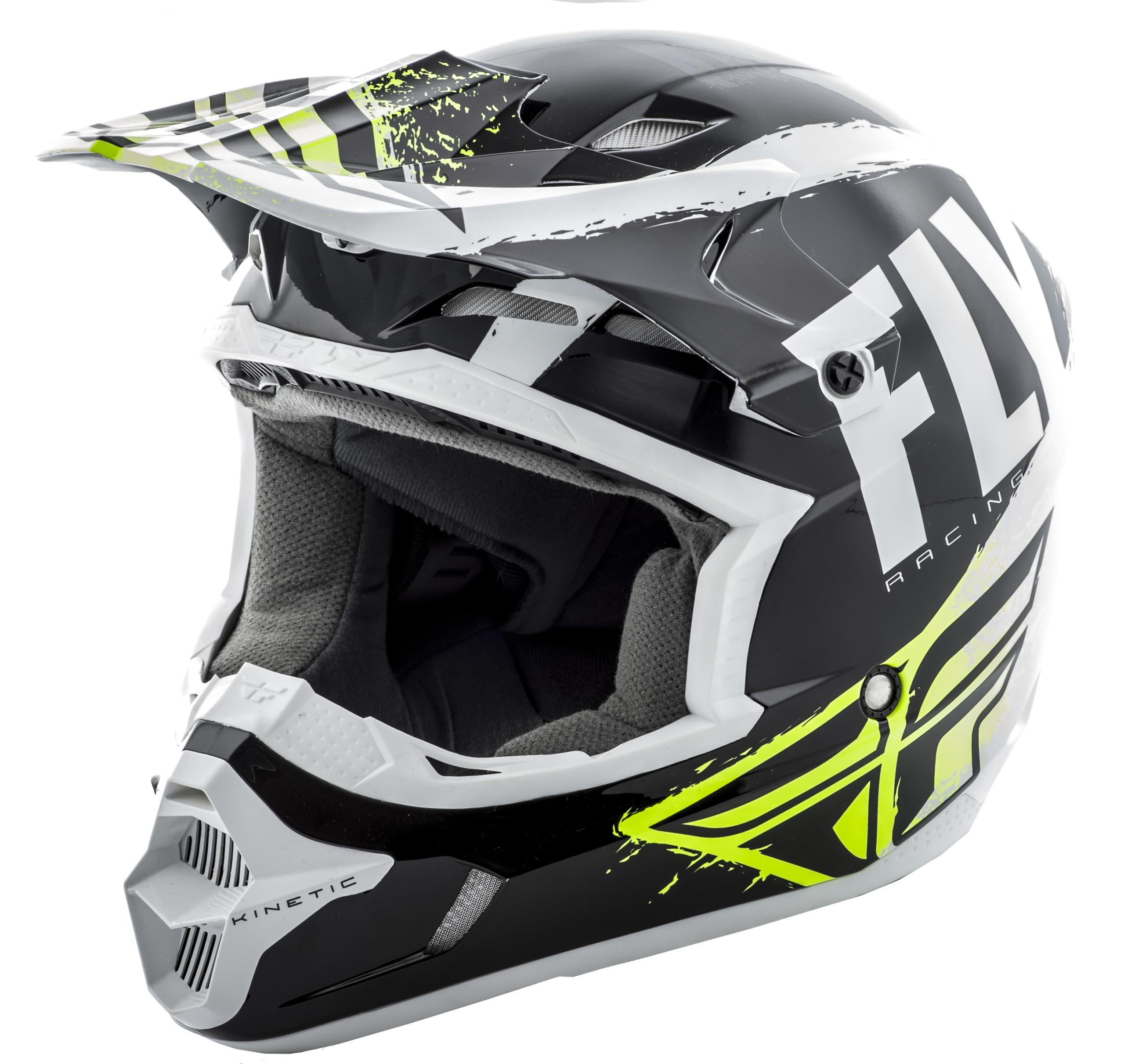 Kinetic Burnish Helmet Black/White/Hi-Vis 2X