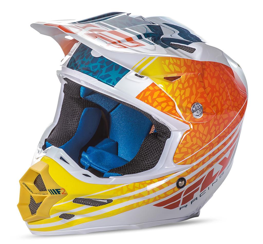 F2 Animal Helmet Orange/White/Teal 2X