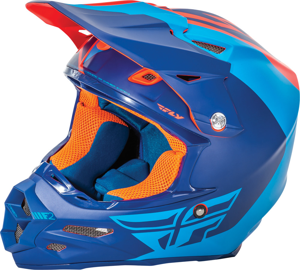 F2 Carbon Pure Helmet Matte Blue/Orange 2X