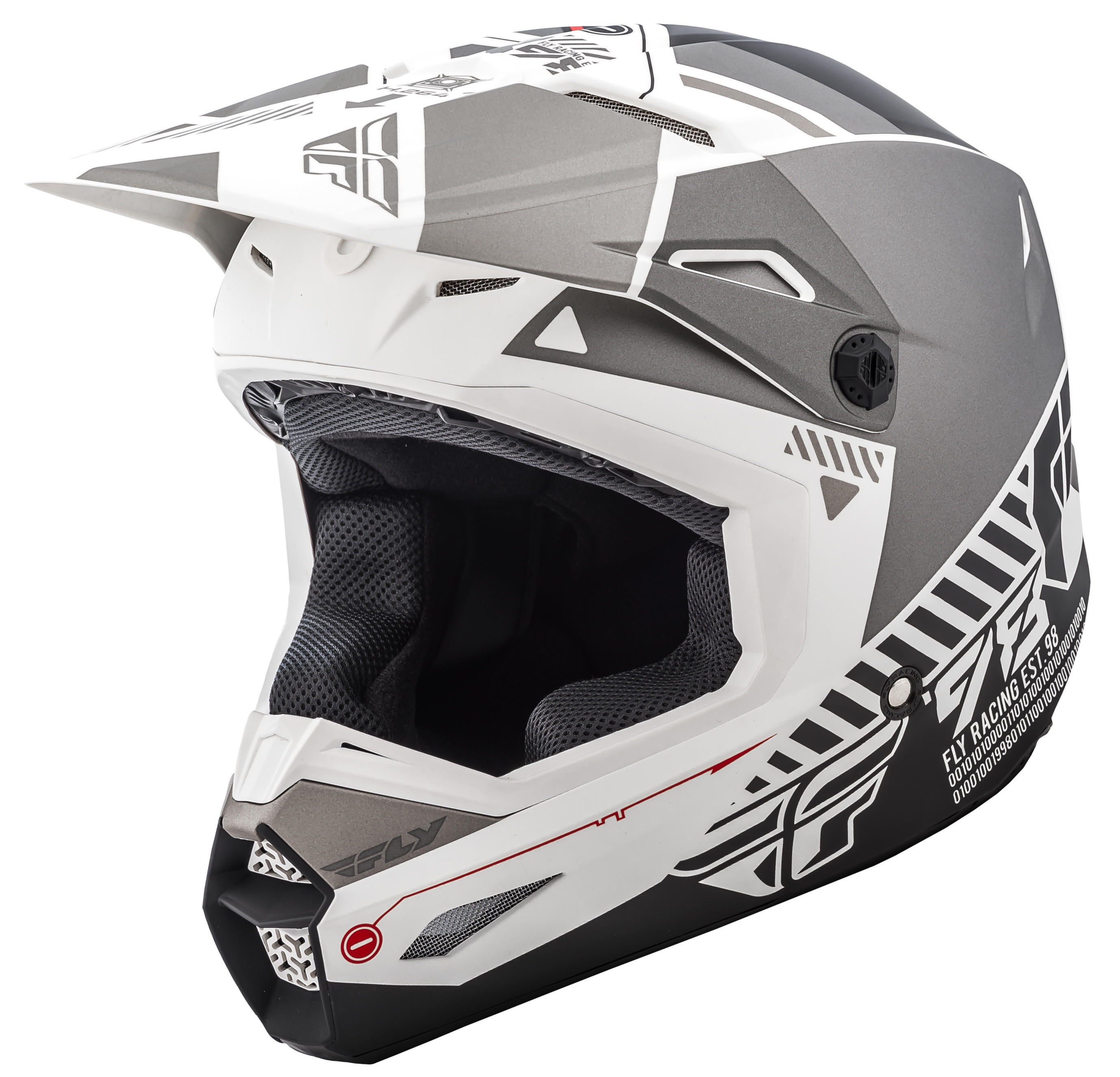 Elite Helmet Matte White/Grey Ym