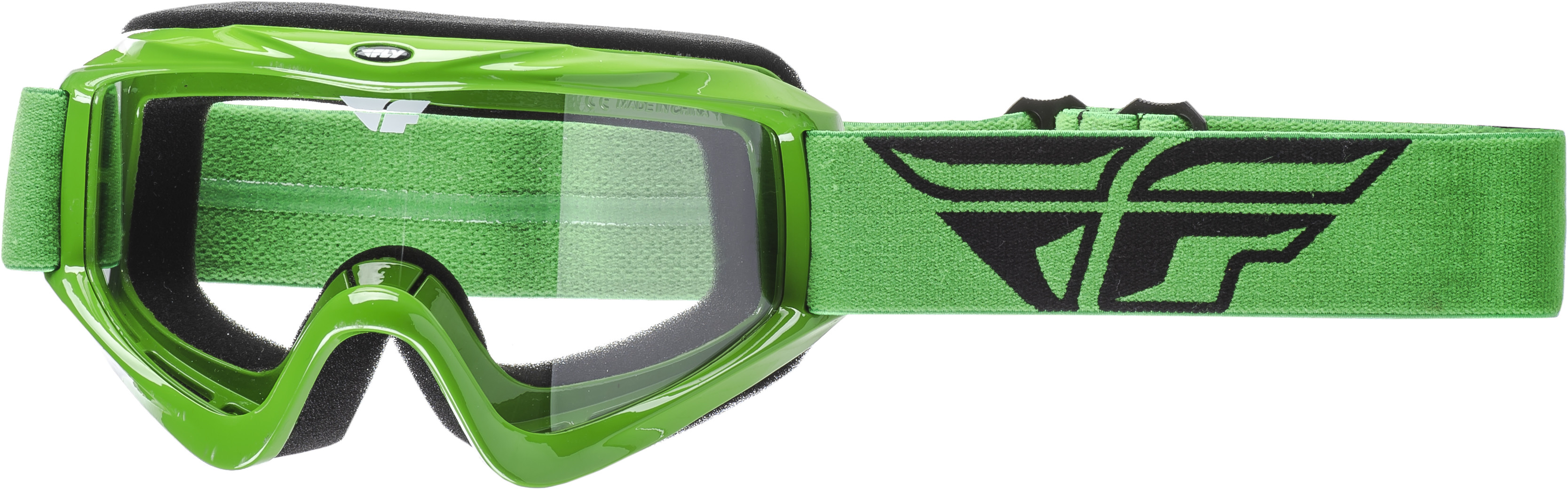 Focus Goggle Green W/ Clear Lens