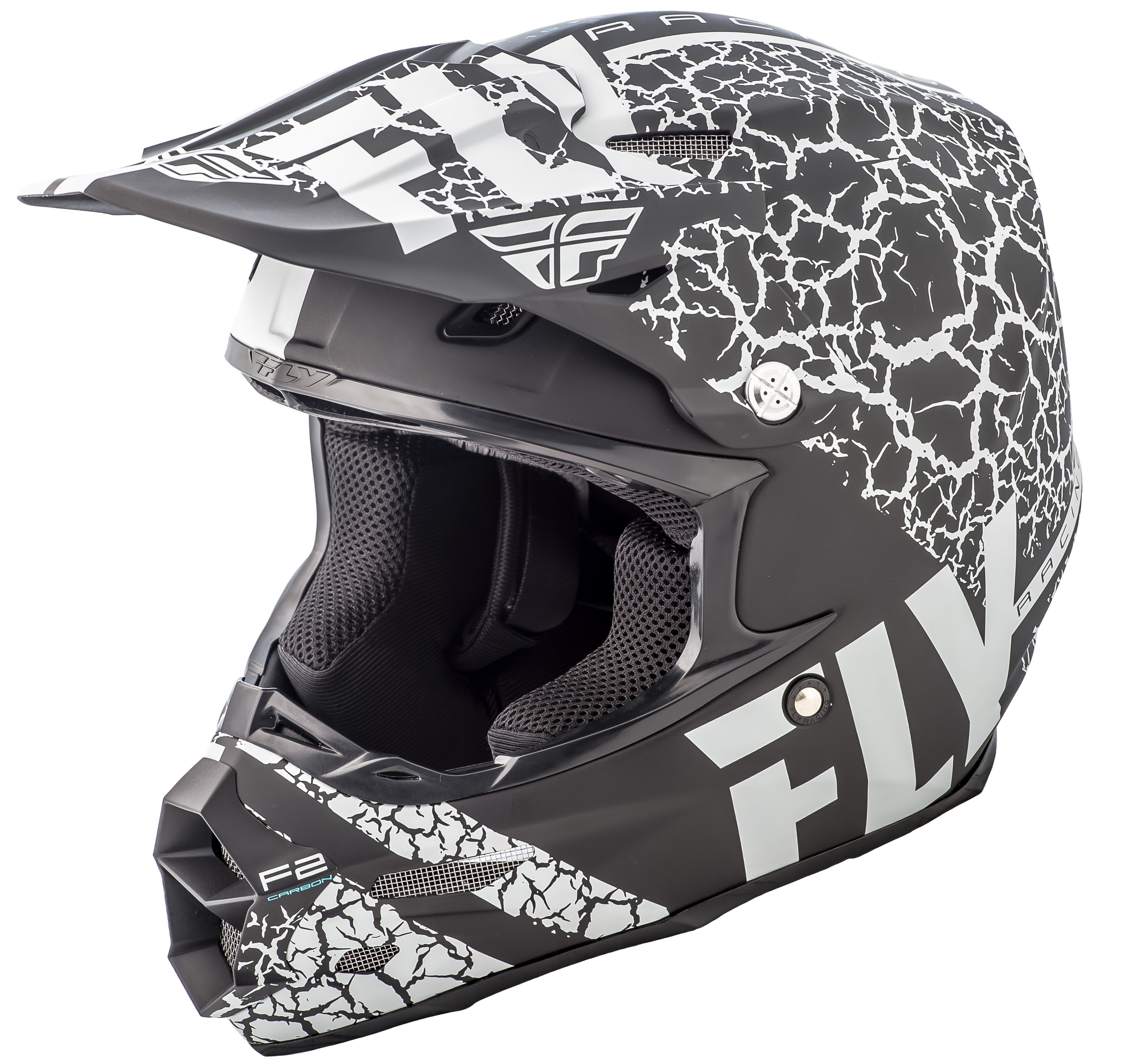 F2 Carbon Fracture Helmet Matte Black/White 2X