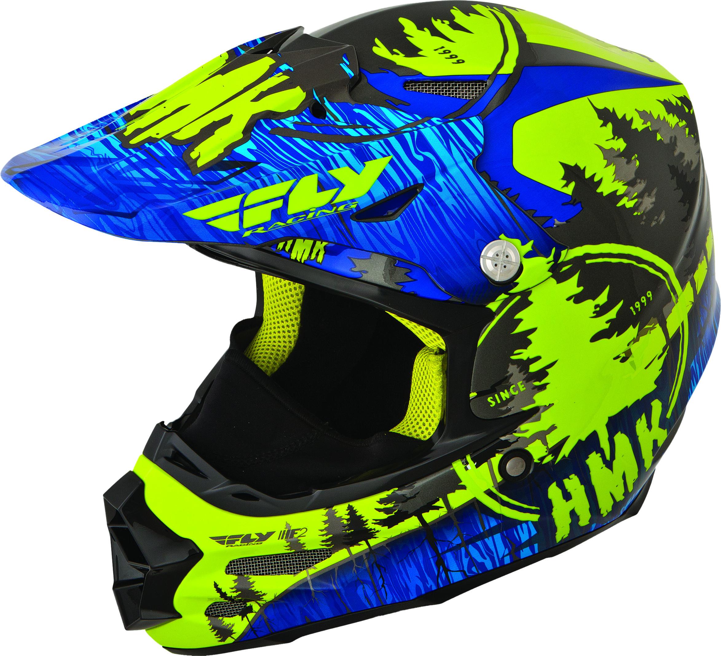 F2 Carbon Hmk Pro Stamp Helmet Blue/Green 2X
