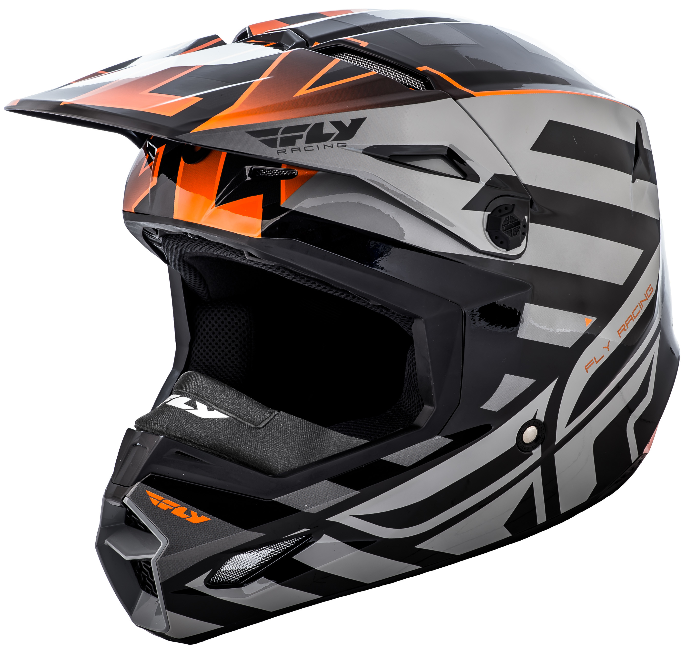 Elite Interlace Cold Weather Helmet Orange/Grey/Black 2X
