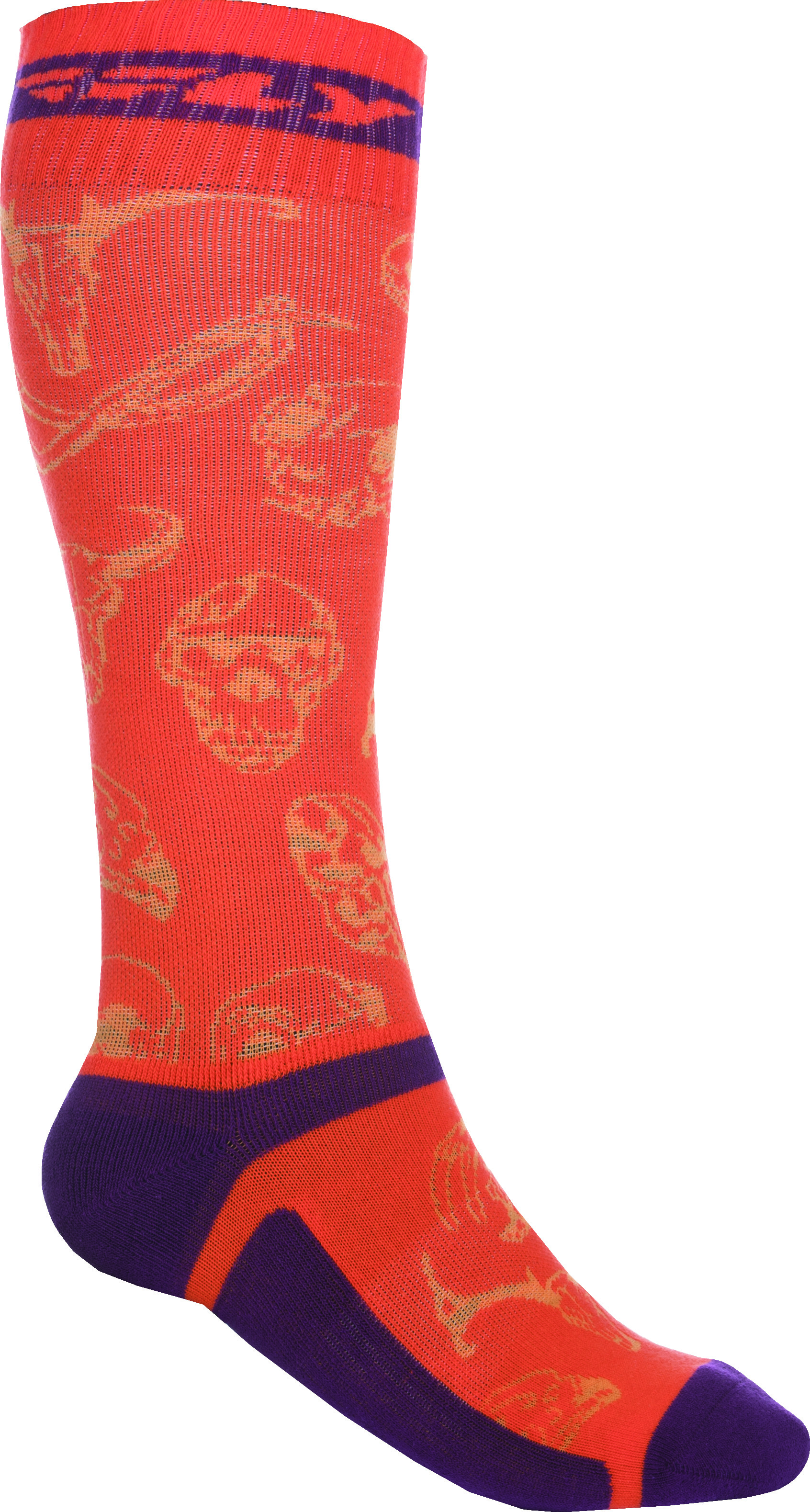 Mx Pro Sock Thin Orange/Purple L/X
