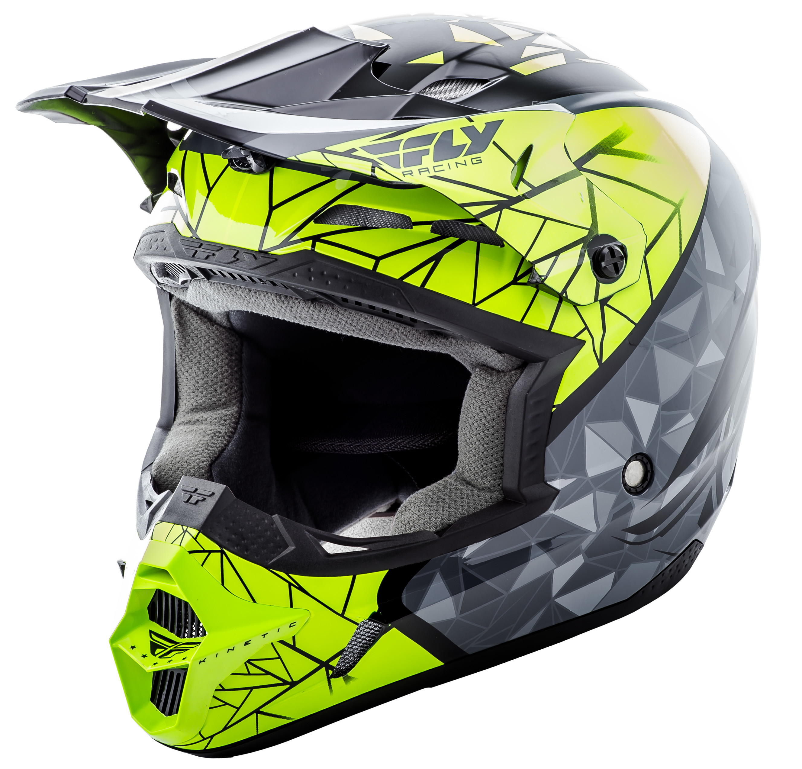 Kinetic Crux Helmet Black/Grey/Hi-Vis Xs