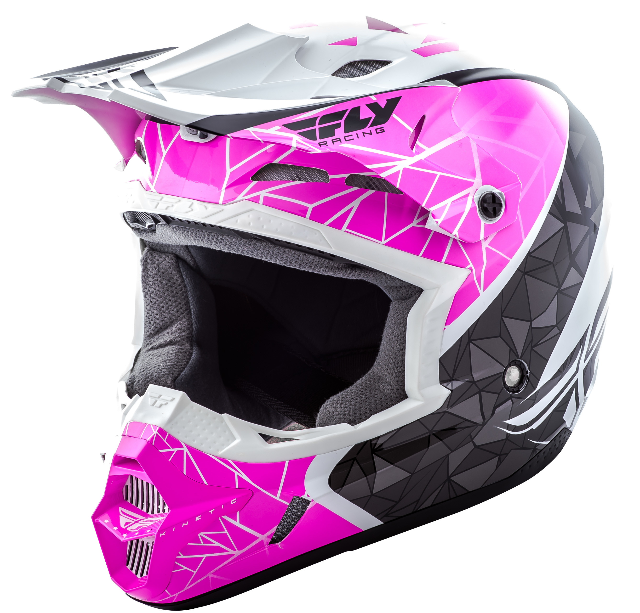 Kinetic Crux Helmet Pink/Black/White Yl