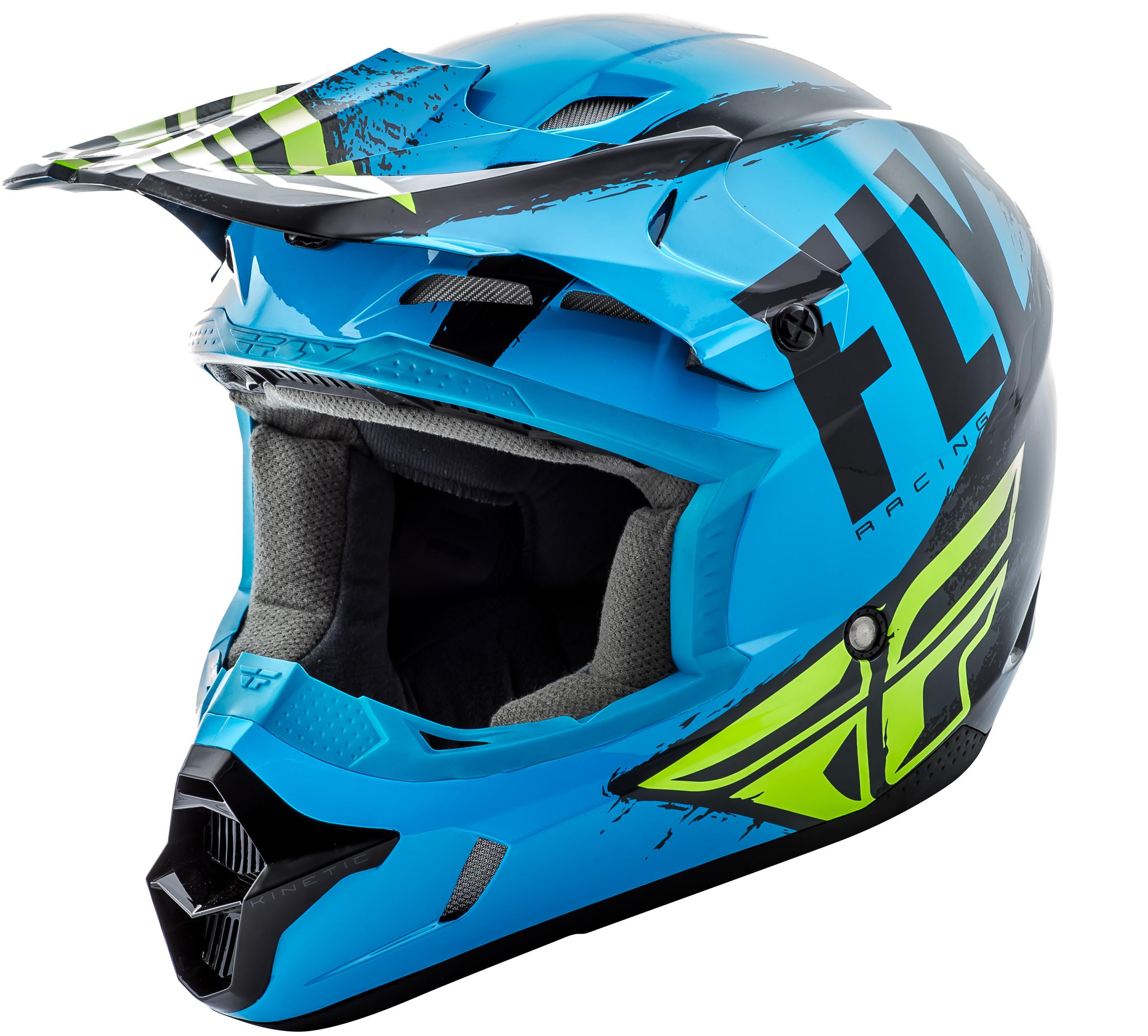 Kinetic Burnish Helmet Blue/Black/Hi-Vis 2X