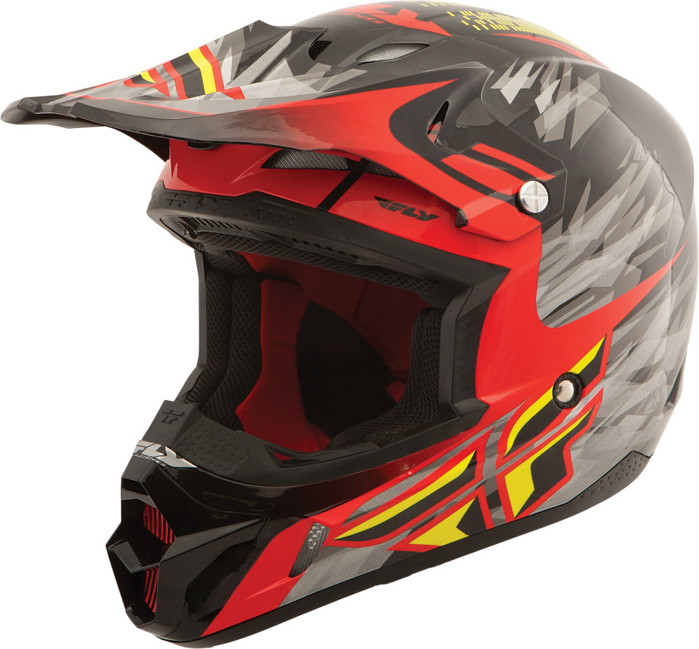 Kinetic Pro Shorty Replica Helmet Black/Red/Lime X