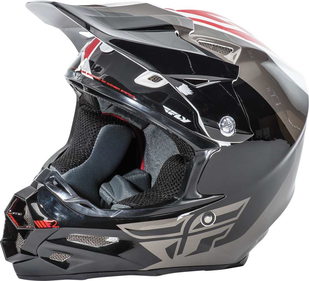 F2 Carbon Pure Helmet White/Black/Grey 2X
