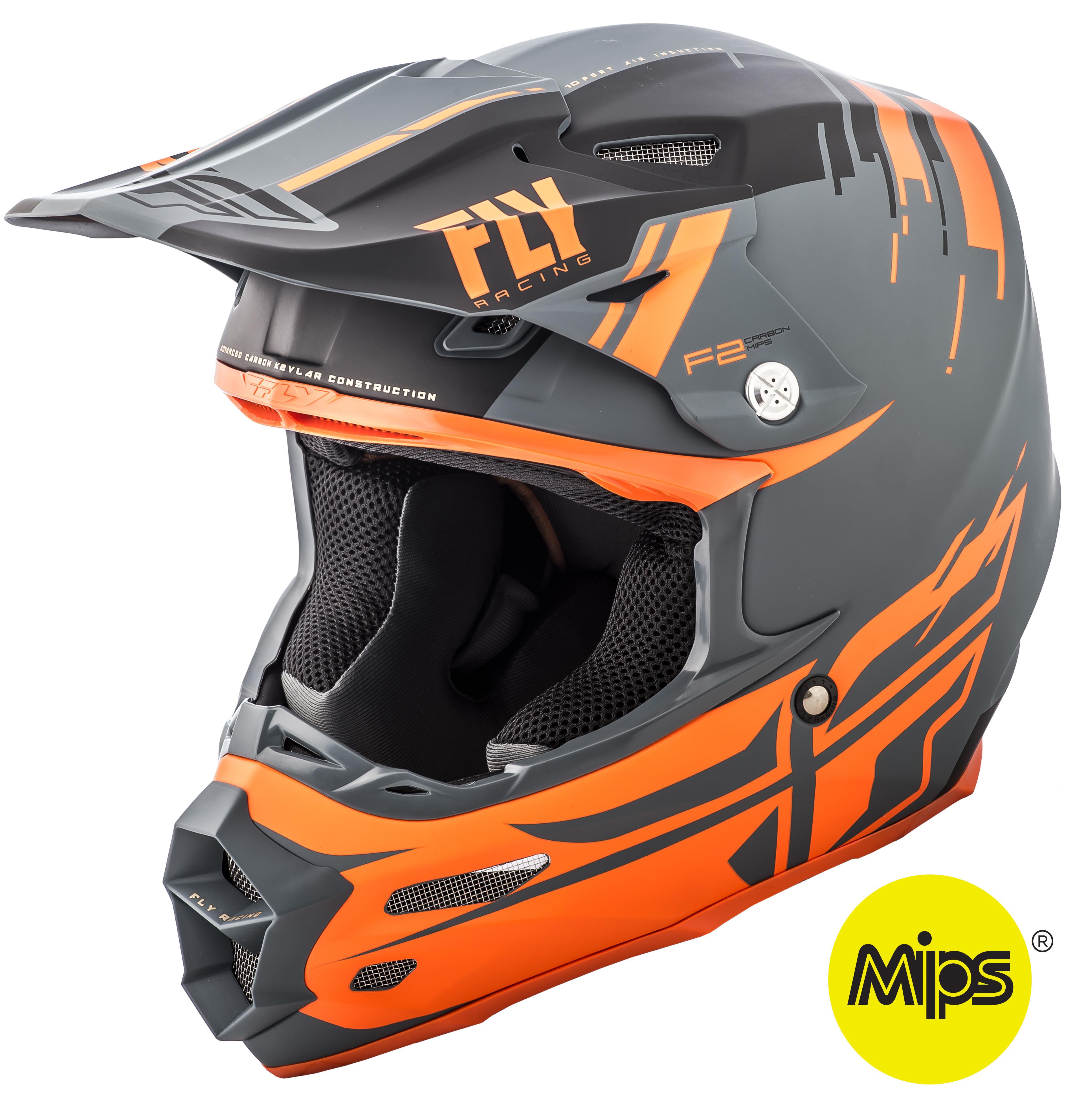 F2 Carbon Forge Helmet Matte Charcoal/Orange/Grey 2X