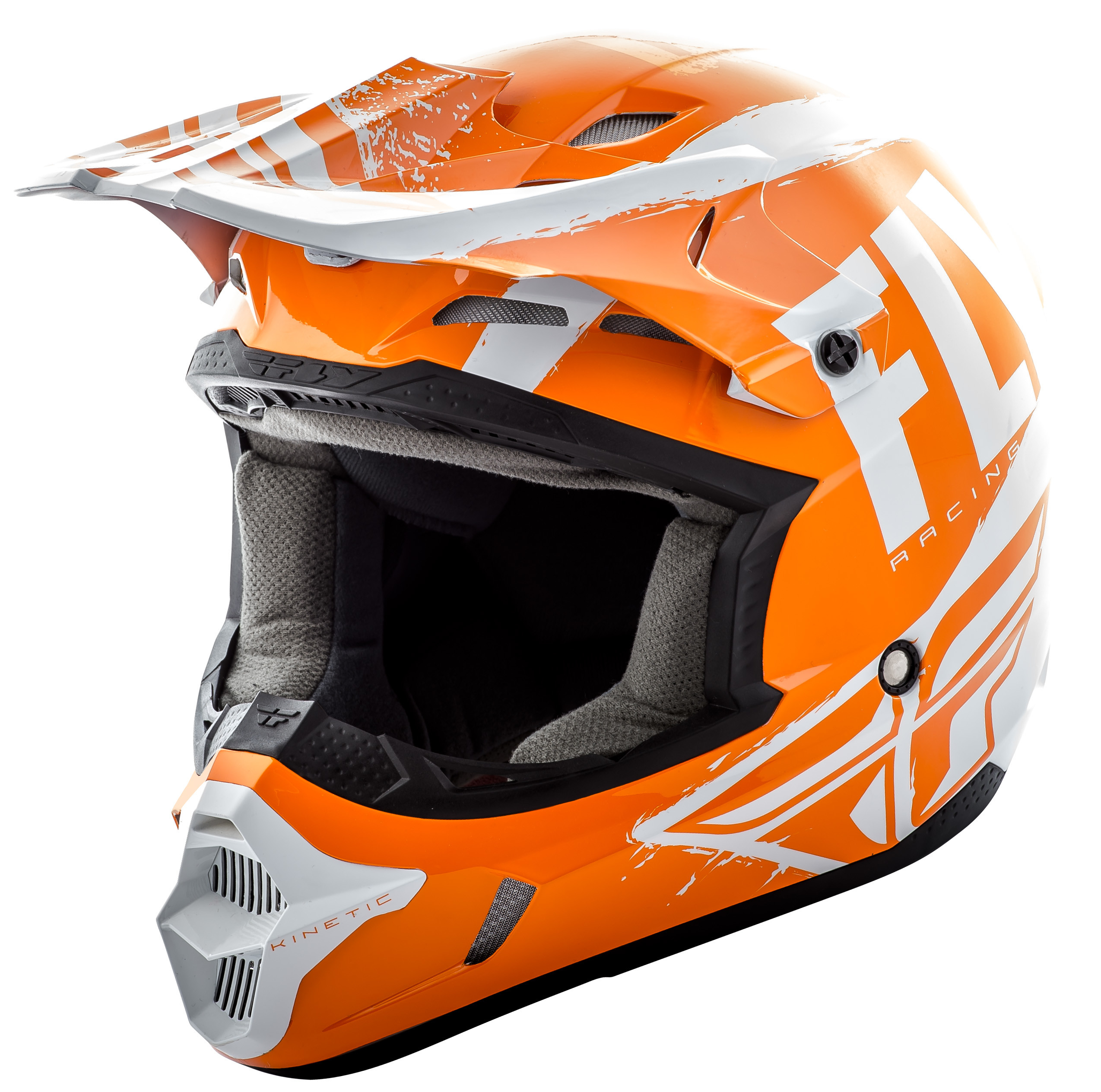 Kinetic Burnish Helmet Orange/White/Grey 2X