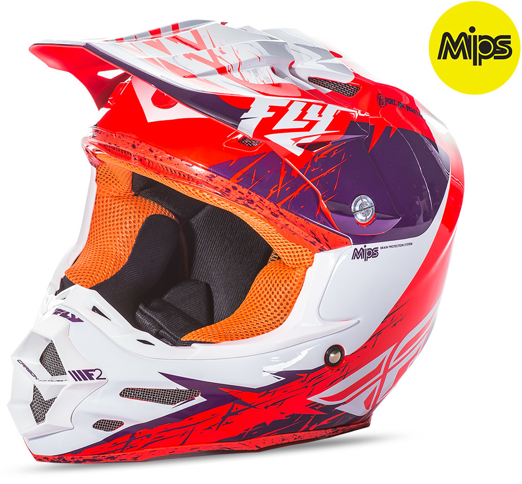 F2 Mips Retrospec Helmet Purple/Orange 2X