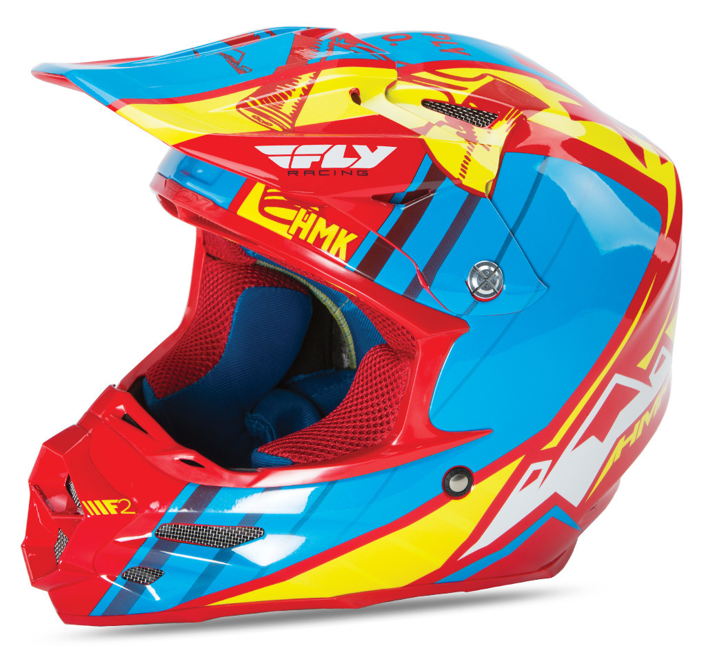 F2 Carbon Hmk Pro Cross Helmet Red/Blue/Yellow 2X