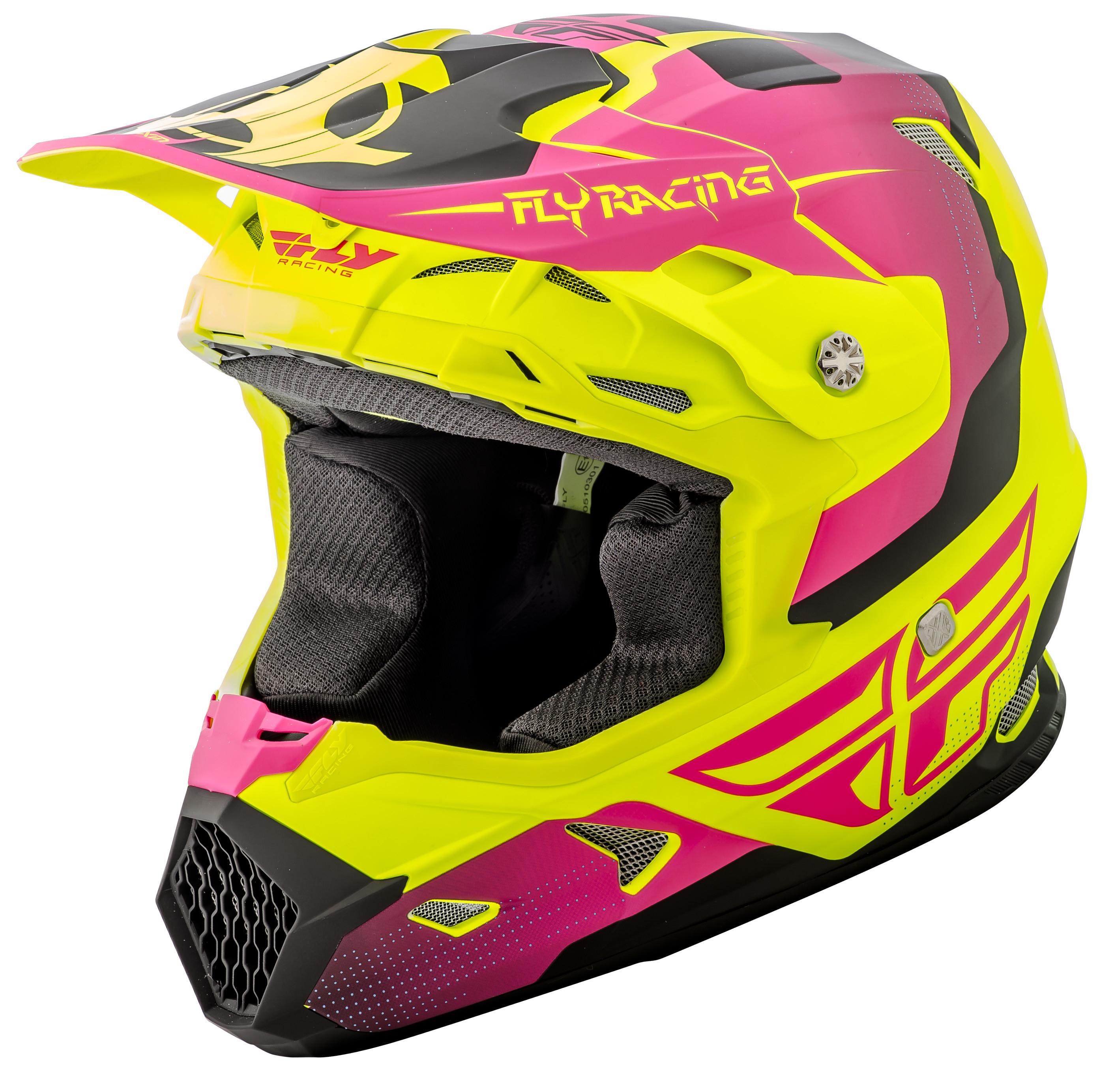 Toxin Original Helmet Matte Hi-Vs/Pink 2X
