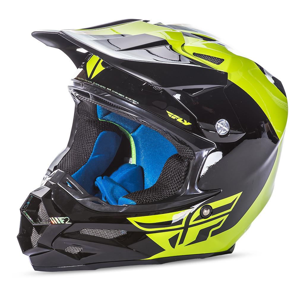 F2 Carbon Pure Helmet Hi-Vis/Black 2X
